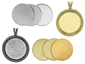 Impressart® Large Artisan Circle Bezel Blank Kit in Silver Tone and Gold Tone