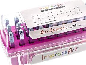 Metal Stamping Kit 3mm Bridgette Lowercase And 4 Pcs Aluminum Strip 2