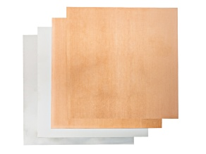 "28 Gauge Metal Sheet Kit includes 2 Pieces 6x6"" Each: Soft Copper & Nickel Silver"