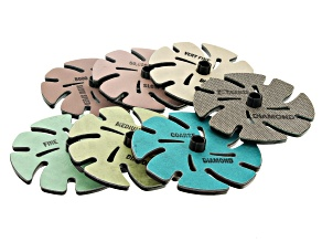 "Jooltool ™ 4"" Lapidary Add-On Kit includes 7 styles of discs with instructions."