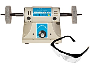 Benchtop Polisher With 2 Buffs And A Pair Of Safety Glasses