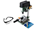 Benchtop Drill Press Kit Contains Press W/Drill Press Vise Auto Center Punch Drill Bits And Glasses