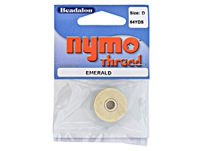 Nymo Thread, Size D, 0.30 mm (.012 in), Emerald, 1 Pc