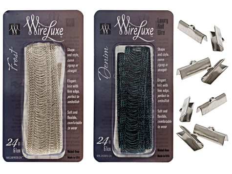 Wireluxe Frost & Denim Colors Necklace Kit To Make Two  24