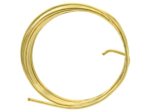 Yellow Brass 12 Gauge Wire 5 Foot Spool