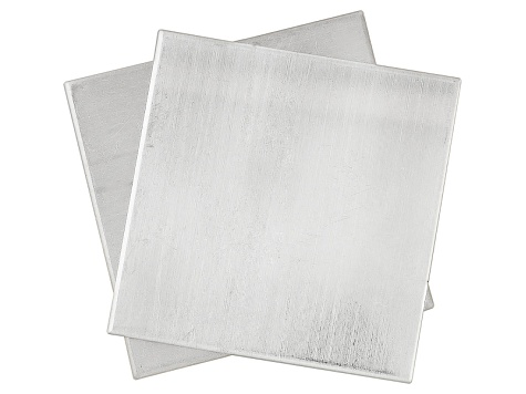 Argentium  Metal Sheet 22 Gauge 1 X 1 Two Pieces Total