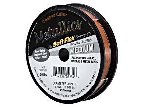 Metallic Soft Flex Medium Copper Color Beading Wire .019 inch 100 ft Spool