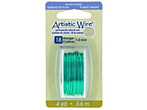 18 Gauge Seaform Green Color Artisic Wire, 4 Yds (3.6 Meter