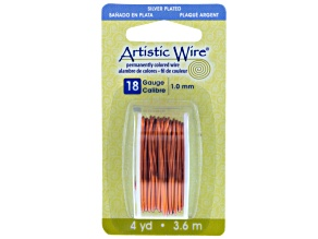 18 Gauge Tangerine Color Artistic Wire, 4 Yds (3.6 Meter)