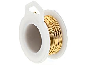 Gold Tone Silver Over Copper Non-Tarnish 20 Gauge Wire 6 Yard Spool