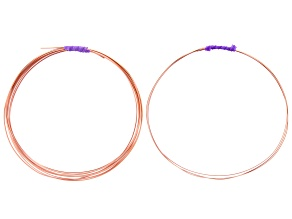 Copper 22 Gauge Square Half Hard Wire Appx 8 Feet and 20 Gauge Round Half Hard Wire Appx 3 Feet