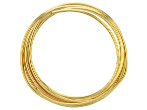 Gold Tone Silver Over Copper Tarnish Resistant 12 Gauge Wire 5 Foot Spool