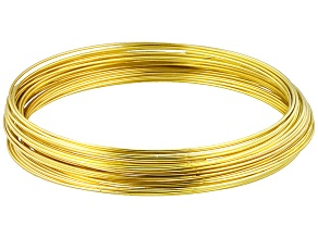 Gold Tone Memory Wire Large Bracelet, Approx .655mm Diameter Wire, .50 Ounce Spool