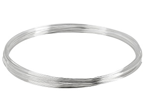 Silver Tone Memory Wire Necklace, Approximately .62mm Diameter Wire, .50 Ounce Spool