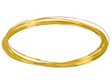 Gold Tone Memory Wire Necklace, Approximately .62mm Diameter Wire, .50 Ounce Spool