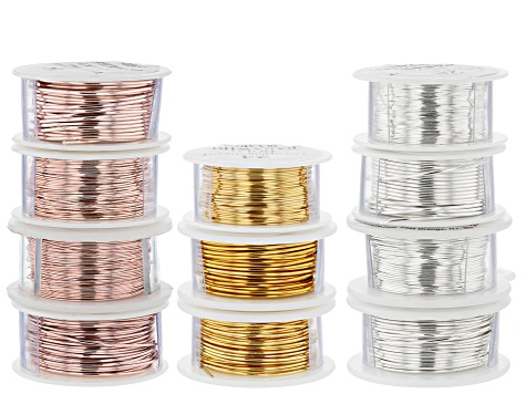 Wire Kit Includes Non-Tarnish Silver, Non-Tarnish Gold and Rose Gold Tones in 18, 20, 24, 28 Gauge