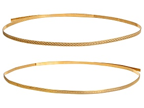 2 Piece Red Brass Pattern Wire Kit Contains Mini Beaded Red Brass And Rope Red Brass 3 Feet Each