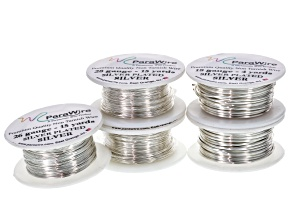 Silver Over Copper Craft Wire Kit includes 18, 26, And 28 Gauges