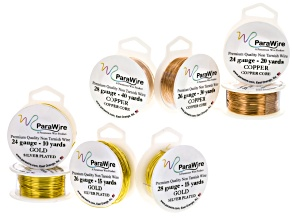 Gold tone silver over copper & Natural Copper Craft Wire Kit in 24, 26 & 28 Ga appx 160 yards total