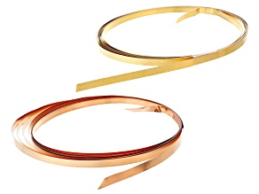 Bezel Wire Kit in Copper And Red Brass 20 ft Total