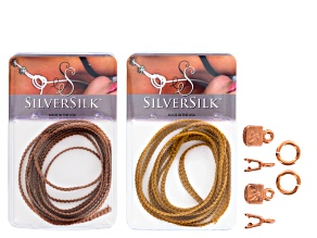 Silversilk Flat Knitted Wire Kit With Bronze And Antique Copper Wire, Crimp Ends And Jump Rings