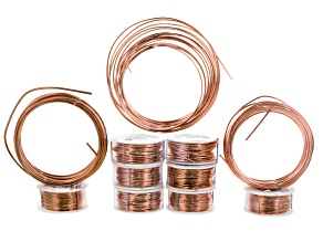 Bare Copper Wire Kit in Round And Half Round Assorted Lengths