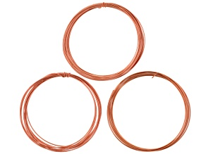Round Copper Wire Kit in 14 Gauge, 16 Gauge, and 18 Gauge Appx 30 Feet Total