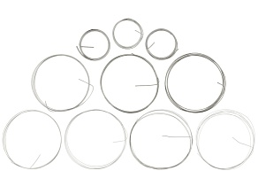 Sterling Silver Wire Kit includes Half Hard & Dead Soft Wire  in Assorted Guages & Shapes