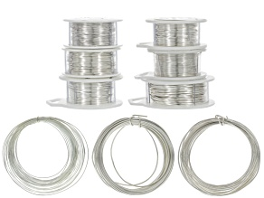 Silver Over Copper Wire Kit includes Gauges 16, 18, 22, 24 & 26 - 7 Spools Total Appx 10 Yards Ea