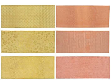 """Picture of Pattern Metal Kit incl Yellow Brass & Copper 3pcs Each 2.5"""" X 6"""" Total 6 Pieces"""