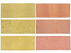 """Pattern Metal Kit incl Yellow Brass & Copper 3pcs Each 2.5"""" X 6"""" Total 6 Pieces"""