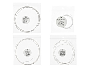 .999 Fine Silver Round Wire Kit/4 Spools in 16ga, 18ga, 20ga & 28 Ga Appx 5 ft Each