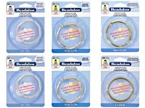 German Style Wire set includes 22GA square & 20GA half-round in Silver tone & brass 6pcs total
