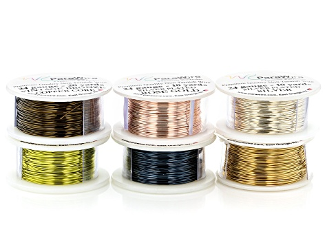 24 Gauge Wire Set of 6 in Assorted Colors appx 10yd and 20 yd in length