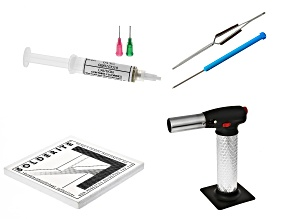 Soldering Basics Supply Kit Includes: Torch, Tweezers, Pick, Board & Paste