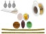 Designing with Cabochons Jewelry Making Supply Kit in Gold Tone  for Making Pendants and Bracelets