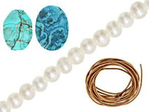 I Made This: Island Inspired Necklace Supply Kit Includes Beads & Leather Cord