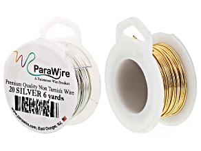 Jewelry 101: Making Your Own Ear Wires Supply Kit Includes 20 Gauge Wire in Gold Tone & Silver Tone