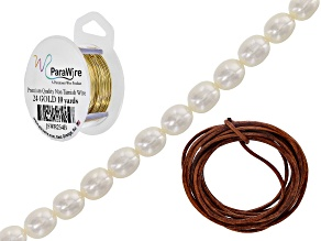 Jewelry 101: Wrapping Beads onto Leather with Wire