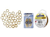 Jewelry Making 101: Necklace Essentials Supply Kit in Gold Tone