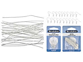 Jewelry Making 101: Earring Essentials Supply Kit in Silver Tone