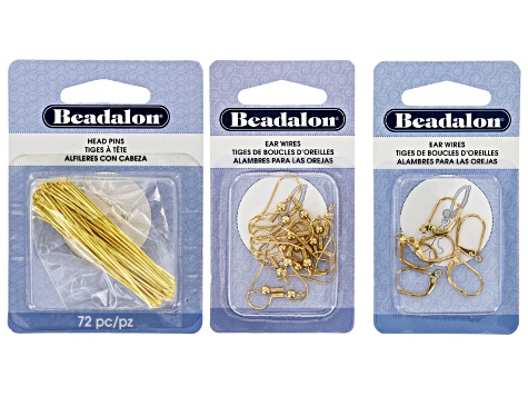 Jewelry Making 101: Earring Essentials Supply Kit  in Gold Tone