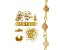 I Made This: Beaded Chain Necklace Supply Kit with Pink Opal in Gold Tone