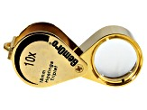 10X  18MM OVAL HASTINGS TRIPLET--GOLD COLOR TRIPLE LENS MAGNIFIER COMES WITH CARRYING CASE