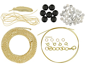 Picture of Pre-Owned Layered Necklace Project Kit includes Supplies To Create A Triple Layered Necklace