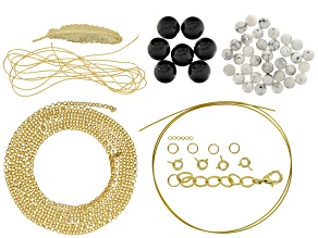 Pre-Owned Layered Necklace Project Kit includes Supplies To Create A Triple Layered Necklace