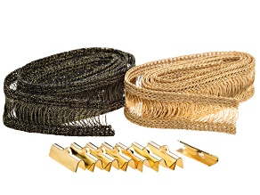 """Pre-Owned Wireluxe Honey & Olive Colors Necklace Kit Makes Two  24"""" Necklaces Plus 4 Pairs Crimp End"""