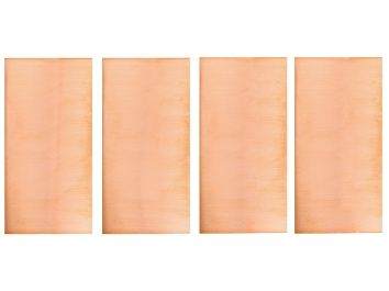 """Picture of Pre-Owned 4 Piece Strip Metal Kit 3x6"""" Dead Soft Copper includes 18, 20, 22 & 24 Gauge"""