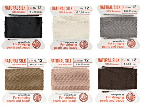 Pre-Owned YouTube Only Silk Thread Kit Size 12 in white, black, grey, brown, beige, and light pink