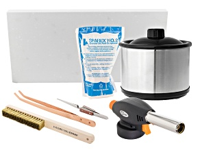 Pre-Owned Annealing Supply Kit incl Soldering Board, Torch Head, Pickle Pot, Copper Tongs & More